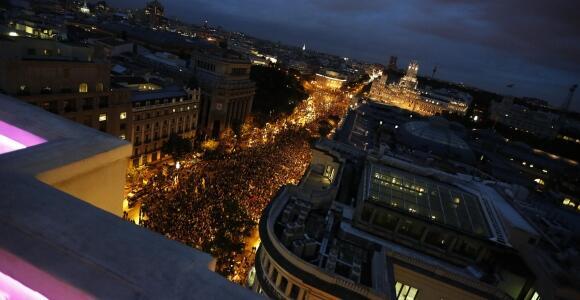 Aspecto de la manifestación del 24O en Madrid. Foto: Reuters.