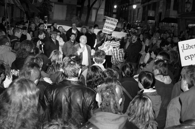 Concentración antifascista en el Teatro Alfil. 10.03.2006/©ÁlvaroMinguito